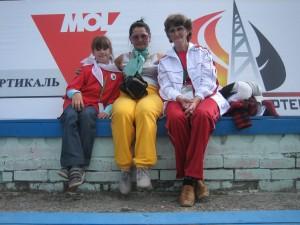 В центре Мажига (Монголия) и Малых А.Г. (слева) Томск, 2011